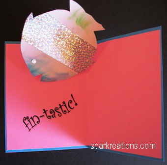 card...Simple V Pop-Up...fish...inside...version 1