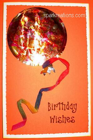 card...alcohol inks on foil balloon...3