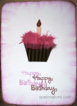 card...mulberry paper...cupcake