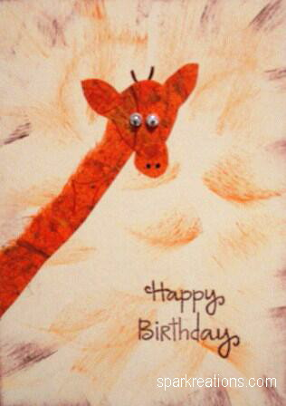 card...mulberry paper...giraffe