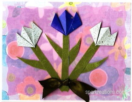 card...origami tulips...4