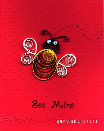card...quilled...bee