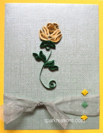 card...quilled...rose