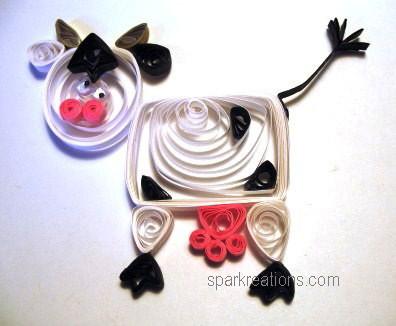 quilled element...cow