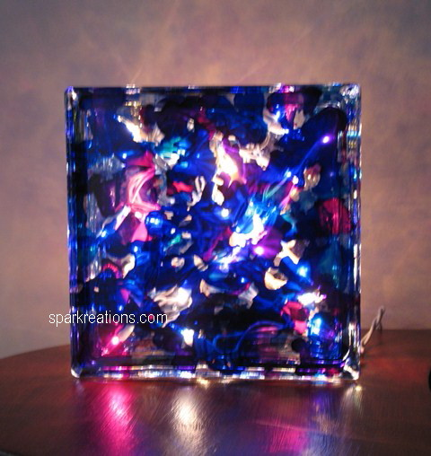 light box (on display)...passion purple, sapphire blue, baja blue, senorita magenta...3